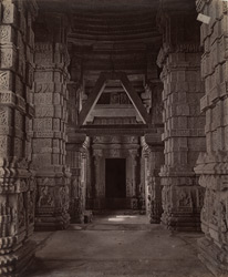 Interior of the Great Sasbahu Temple, Gwalior